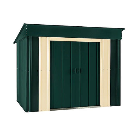 Lotus Low Pent Roof Metal Shed 6' x 4'