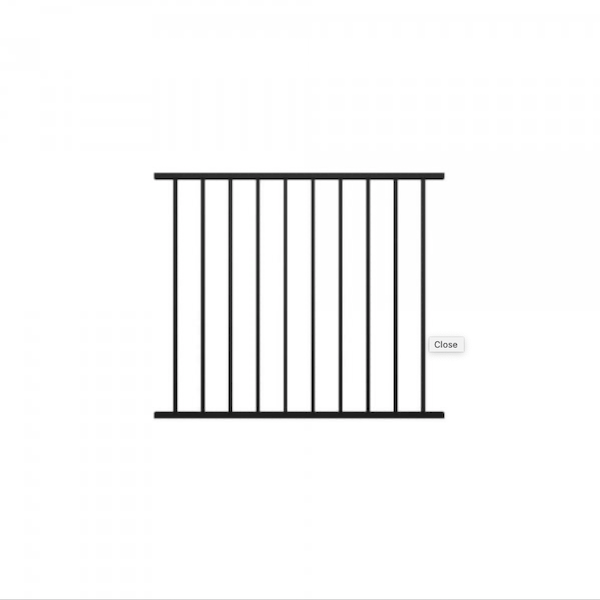 Fortitude Traditional Railing Panel 1200mm x 1016mm