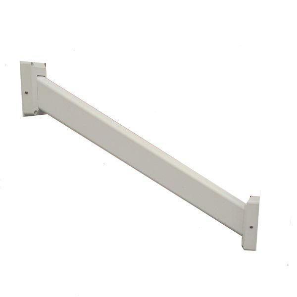 Super Rail Non Routed Step Handrail with 2 Stair Rail Brackets