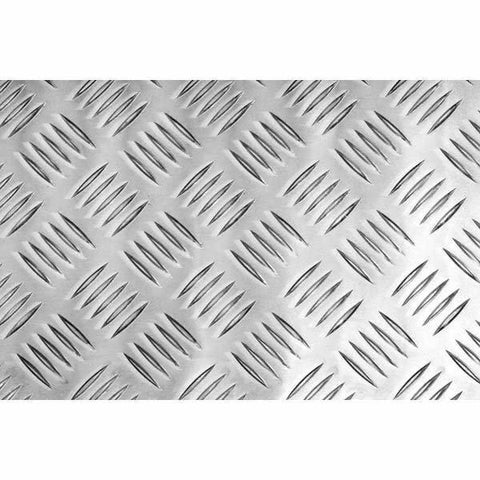 Aluminium Chequer Plate 2000 x 1000 X3mm Five Bar Pattern 3mm Base Thickness