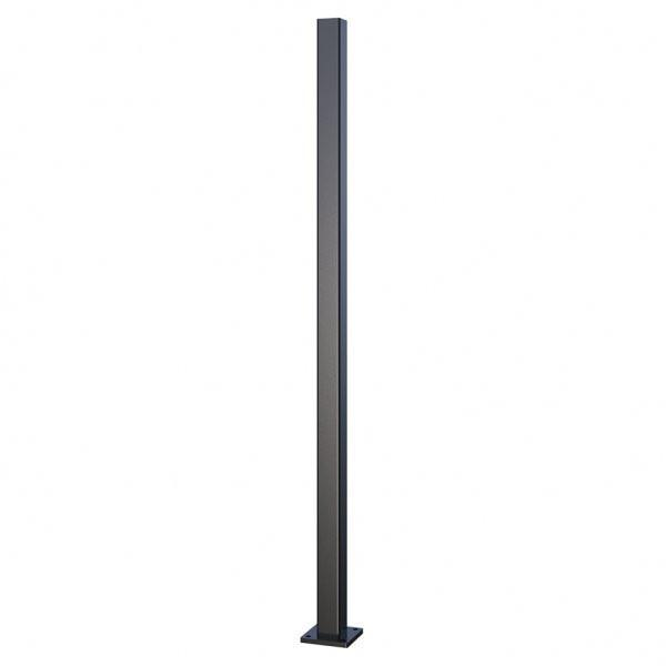 Aluminium Post 50mm x 50mm - Powder Coated Black