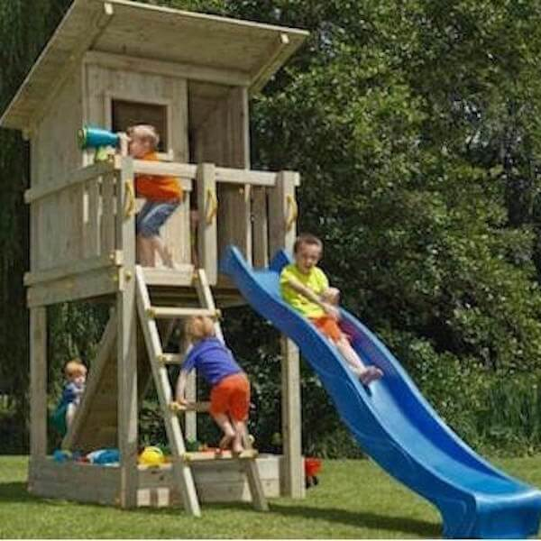 Blue Rabbit Play Tower Kit with Slide and Climbing Wall
