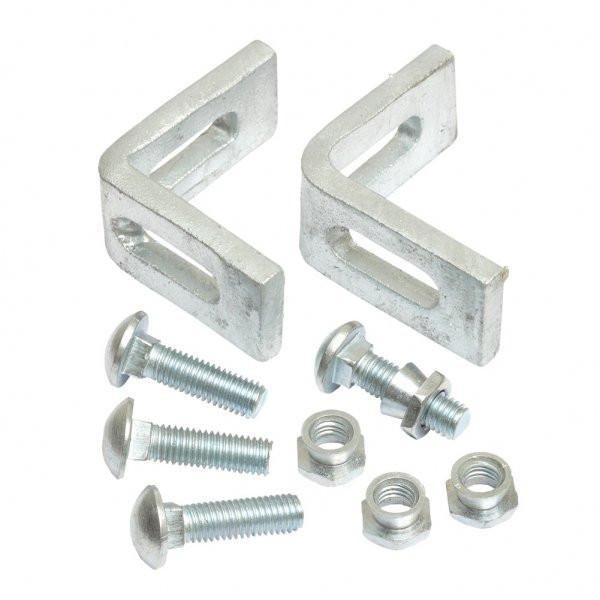 Cleat & M10 Bolt With Snap Off Cone (x2) For Joining Part Panels To Posts