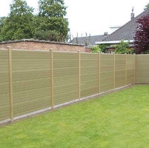 Eco Fencing Wood-Grain Composite Gravel Boards 2438mm (8ft)