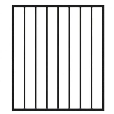Gate 962mm wide x 1100mm high 16mm Diameter Bars for 1200mm high railings- Powder Coated Black