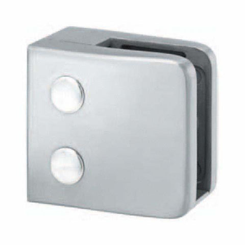 Glass Clamp Flat Back Square Front To Suit 8 - 12mm Glass