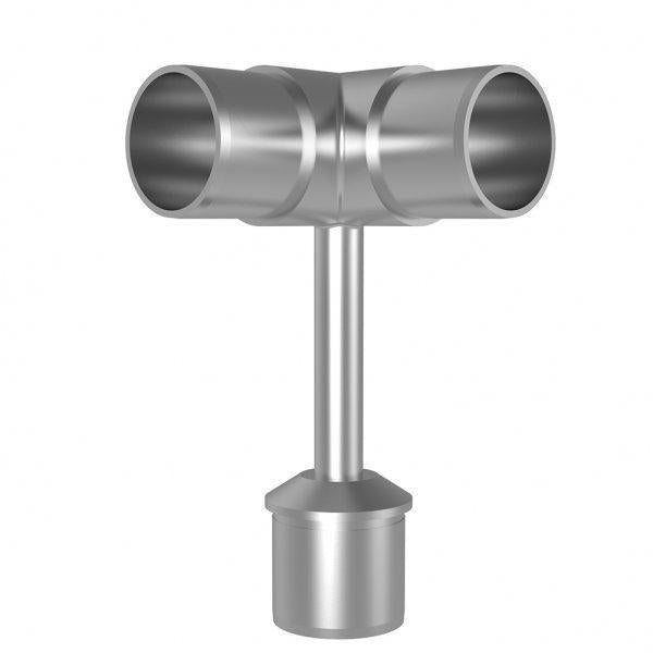 *New Handrail Bracket with 90 degree End 316 Grade 48.3mm