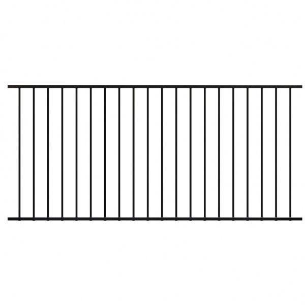 Railing Panel - for 1200mm High Fence 2400 x 1100mm with 16mm Tube - Black