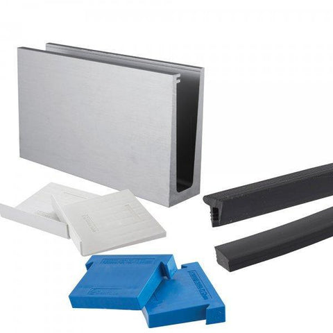 Wedge-Loc Slim™ Base Fix Channel System Kit with Wedges & Seals 2500mm