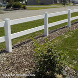 Super Rail 760mm Low Ranch Style uPVC Fence Post with Std Cap