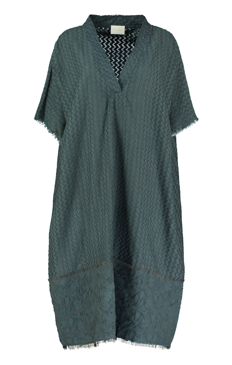 Lumio Cutwork Grey Kaftan