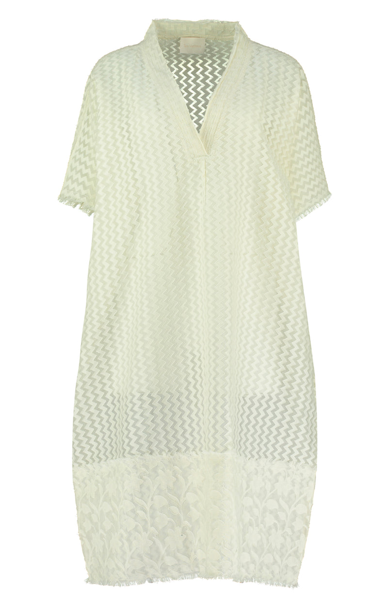 Lumio Cutwork Cream Kaftan