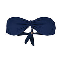 Bandeau removable tie top