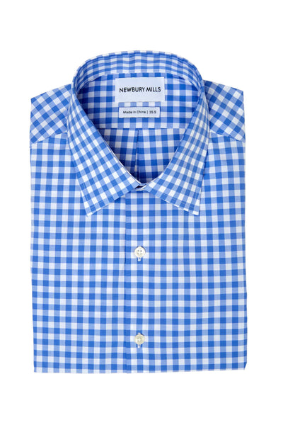 Blue Checks Dress Shirt Folded