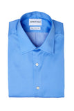 Dotted Blue Dress Shirt Folded