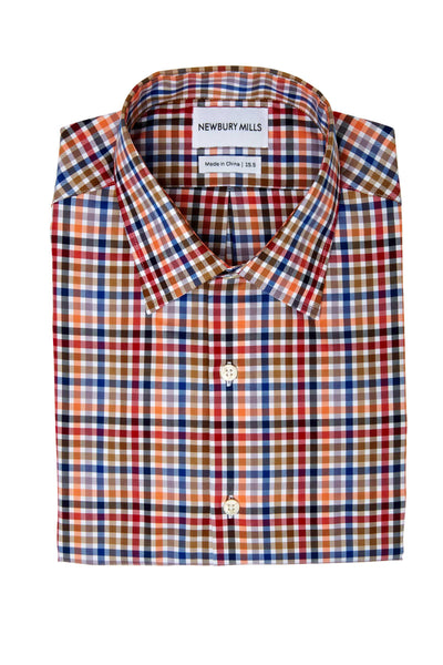 Multi Checks Twill Dress Shirt Folded