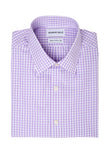Purple Checks Dress Shirt Folded
