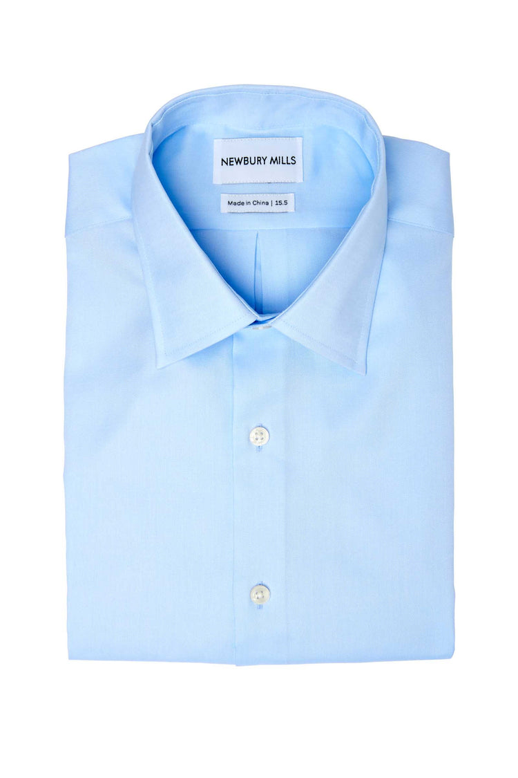 Solid Blue Dress Shirt Folded