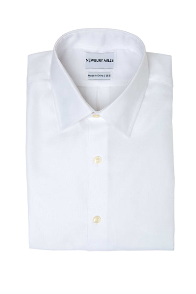 Solid White Dress Shirt Folded
