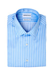 Striped Blue Dress Shirt Folded