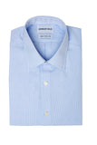 Thin Blue Stripes Dress Shirt Folded