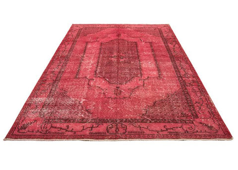 vintage overdyed red rug