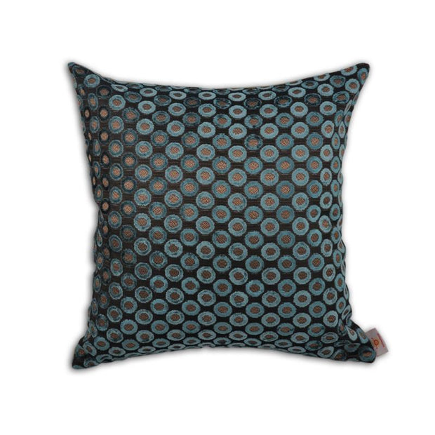 Turquoise Embroidered Gray Turkish Pillow Throw Pillows