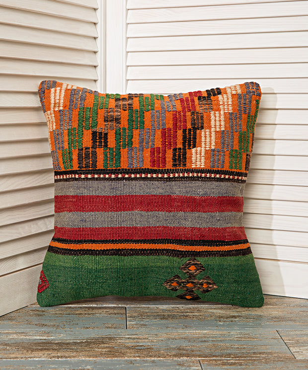 plaid pattern pillow