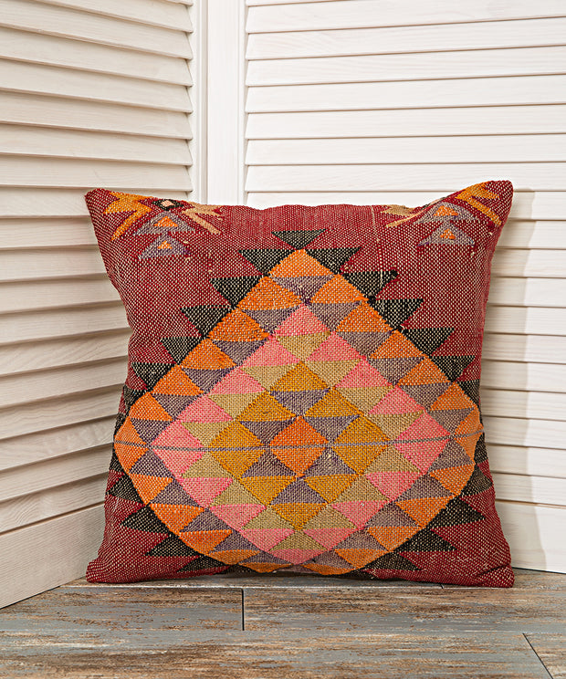 yellow decorated cushion