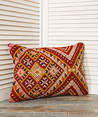 Zig Zag Decorative Yellow Pillow