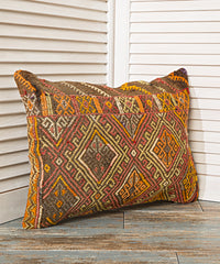 Bright Orange Diamond Pillow