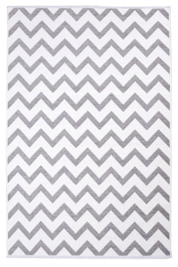 Diva Double Sided Living Room Rug - Grey/White