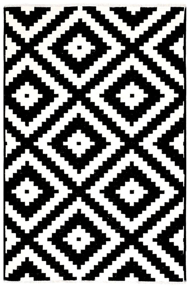 Diva Double Sided Modern Area Rug - Black/White