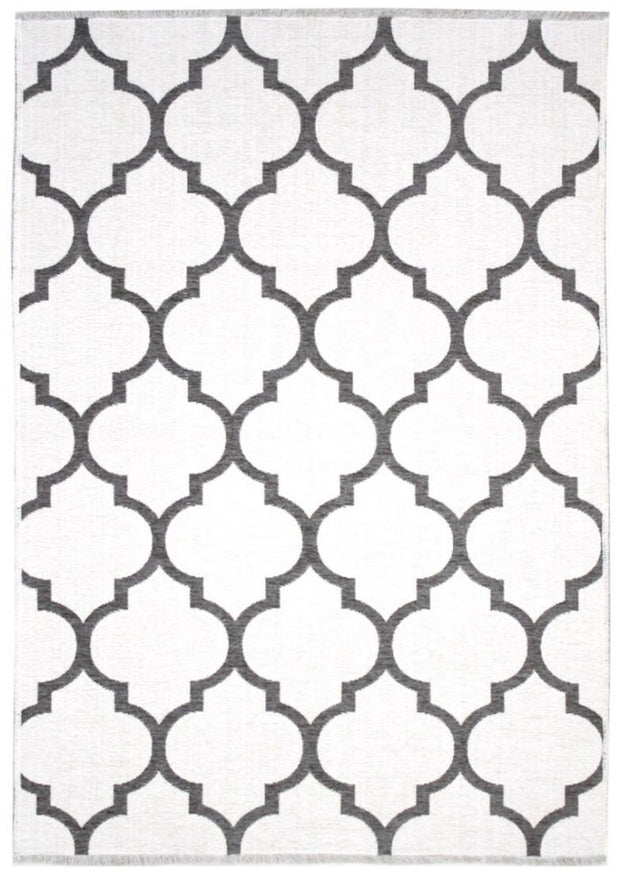 Diva Double Sided Grey - White Carpet