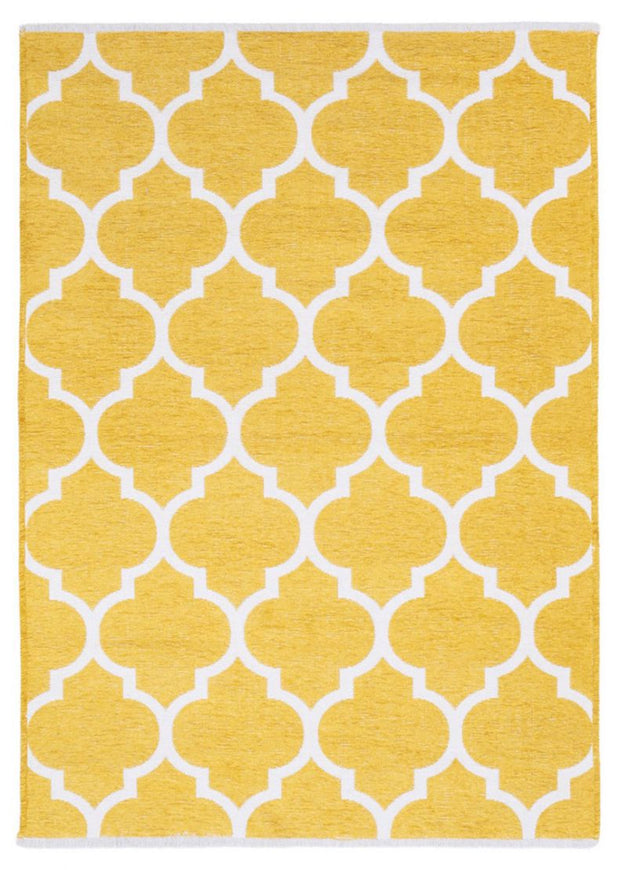 Diva Double Sided Yellow - White Carpet