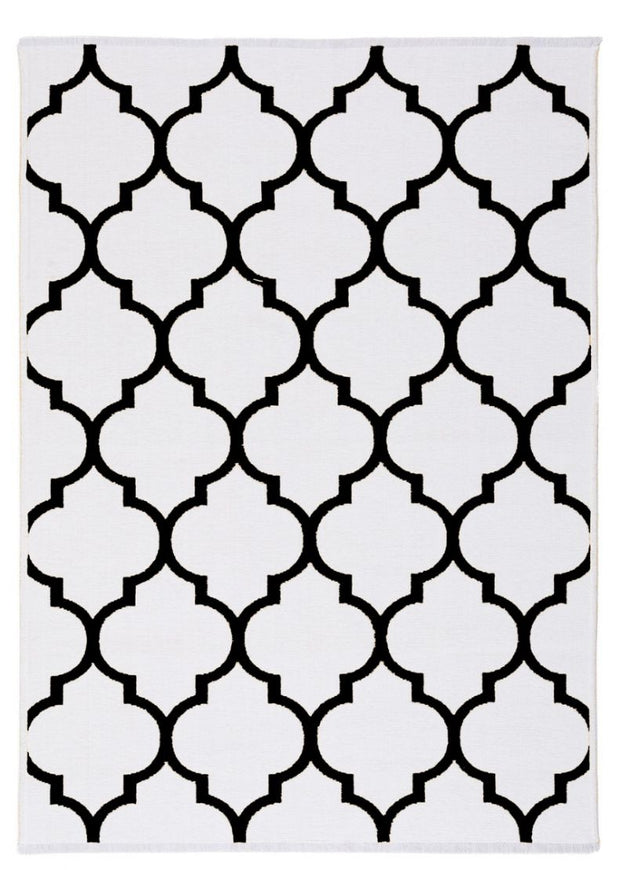 Diva Double Sided Black - White Carpet