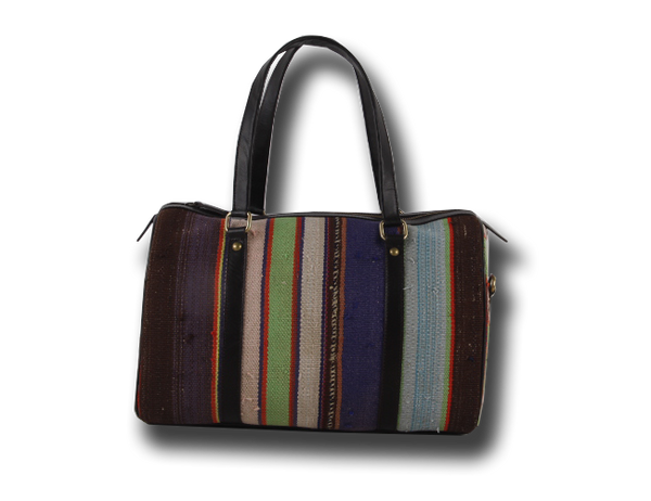 The Orient Bazaar - Tote Bag - Stripped Pattern Speedy Bag - 1