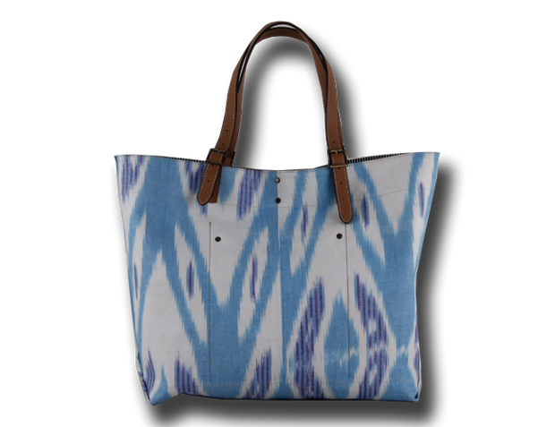 Blue Ikat Tote Bag