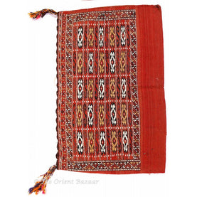 Turkish Kilim Sack - Oriental Motifs On Red Background Sacks