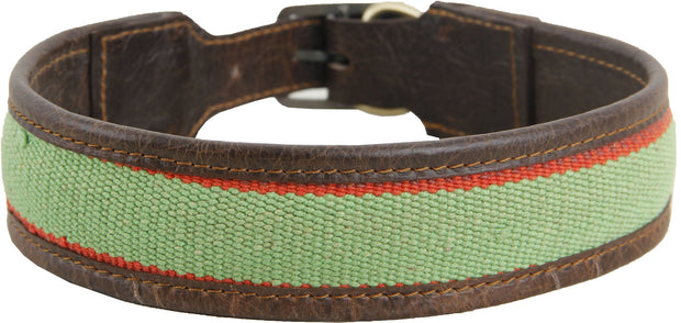 Kilim Dog Collar - Green/Large