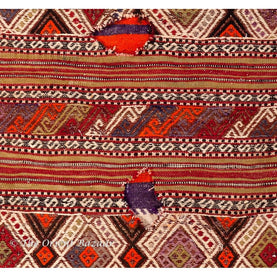 Turkish Kilim Sack - Diamond Motifs On Reddish Tones Sacks