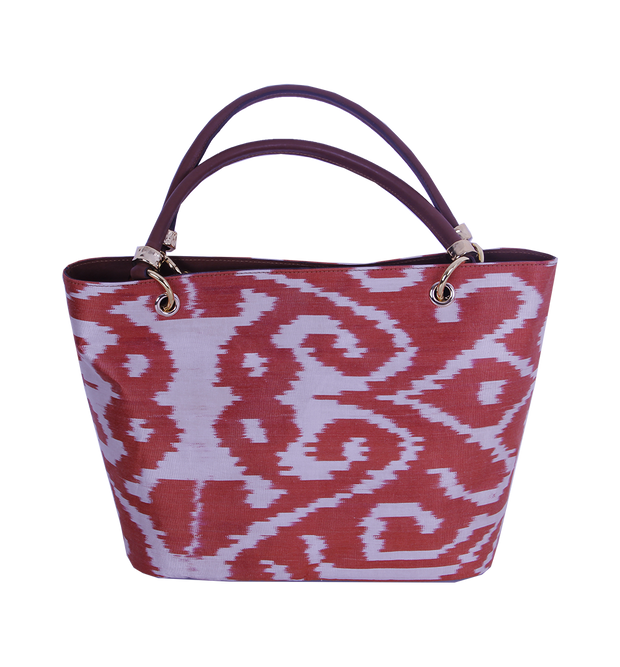 Ikat Tote Bag - Red