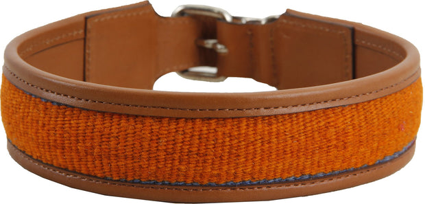 Orange Kilim Dog Collar