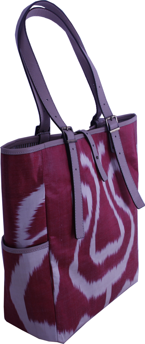 red ikat bags