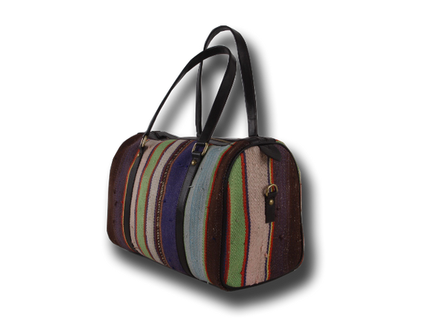 Tote Bag - Stripped Pattern Speedy Bags