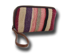 Make-Up Bag / Cosmetic With Lovely Colors Lilac Pink Bags