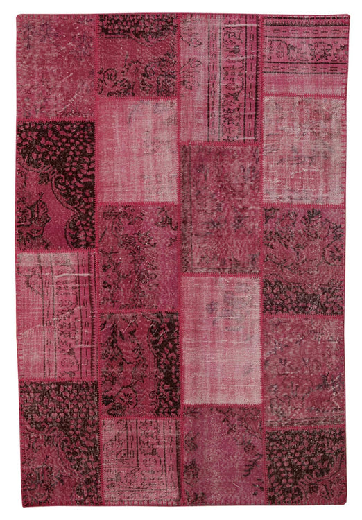 Pink Overdyed Patchwork Rug
