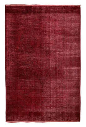 Decorative Red Overdyed Rug Recoloured Carpet