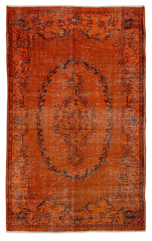 Overdyed Orange Rug