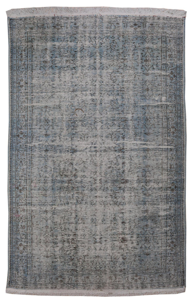 Stylish Light Blue Decorative Rug Recoloured Carpet